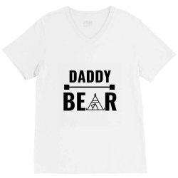family bear pregnancy announcement daddy V-Neck Tee | Artistshot