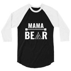 family bear pregnancy announcement mama white 3/4 Sleeve Shirt | Artistshot