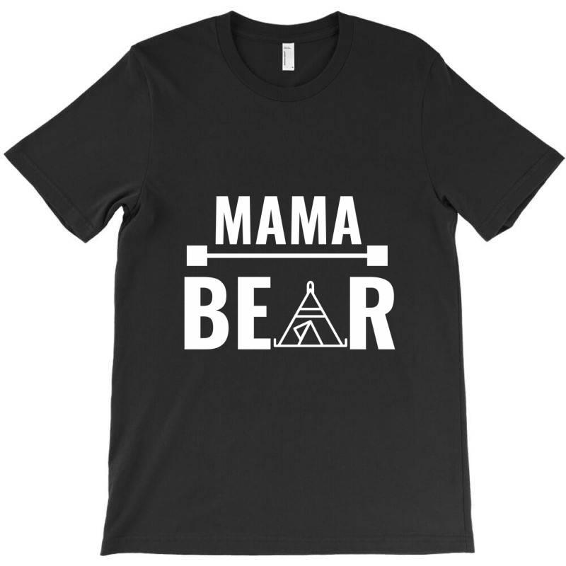 Family Bear Pregnancy Announcement Mama White T-shirt | Artistshot