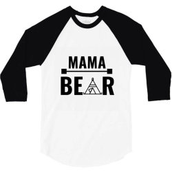family bear pregnancy announcement mama 3/4 Sleeve Shirt | Artistshot