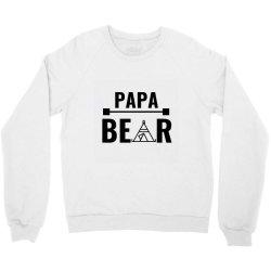 family bear pregnancy announcement papa Crewneck Sweatshirt   Artistshot