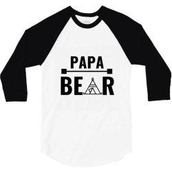 family bear pregnancy announcement papa 3/4 Sleeve Shirt   Artistshot