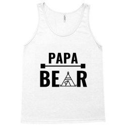 family bear pregnancy announcement papa Tank Top   Artistshot