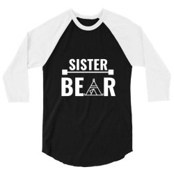family bear pregnancy announcement sister white 3/4 Sleeve Shirt | Artistshot