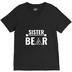 family bear pregnancy announcement sister white V-Neck Tee | Artistshot
