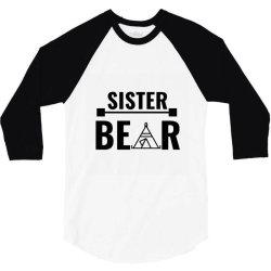 family bear pregnancy announcement sister 3/4 Sleeve Shirt   Artistshot