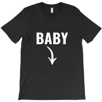Funny Couples Maternity Announcement Baby White T-shirt Designed By Perfect Designers