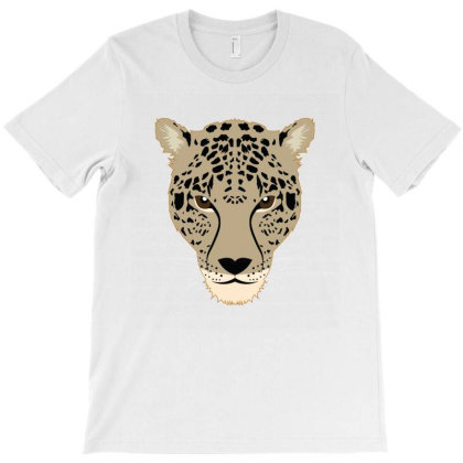 Cheetah Face T-shirt Designed By Emardesign