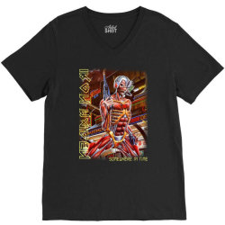 iron maiden somewhere in time screen new V-Neck Tee | Artistshot