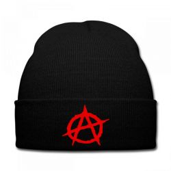Anarchy Embroidery Embroidered Hat Knit Cap | Artistshot