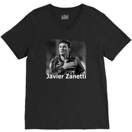 Javier Zanetti V-neck Tee Designed By G3ry