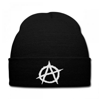 Anarchy Embroidery Embroidered Hat Knit Cap