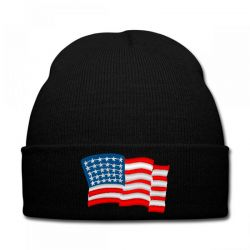 American Flag Usa Embroidery Embroidered Hat Knit Cap | Artistshot