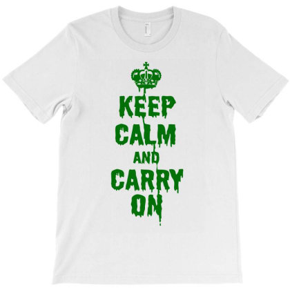 Keep Calm Carry On T-shirt Designed By Anma4547