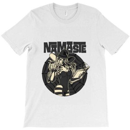 Namaste Halloween T-shirt Designed By Tiococacola