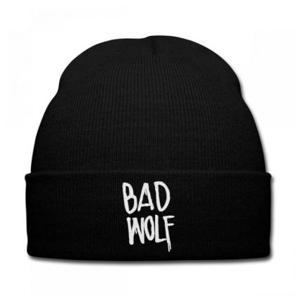 Bad Wolf Embroidered Hat Knit Cap Designed By Madhatter