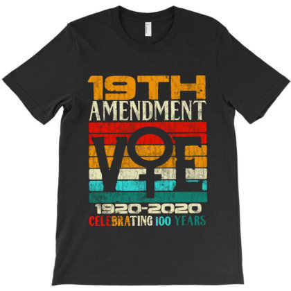 19th Amendment Vote Celebrating 100 Years T-shirt Designed By Blees Store