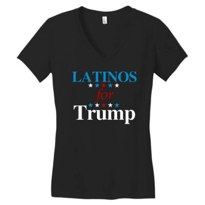 Latinos For Trump Women's V-neck T-shirt Designed By Blees Store