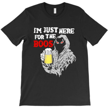 Here For The Boos Halloween T-shirt Designed By Blees Store