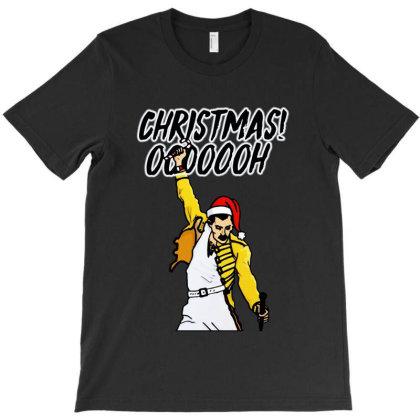 Funny Freddie Mercury Christmas Ooooooh T-shirt Designed By Blees Store