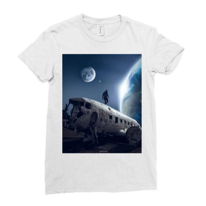 Cosmos Ladies Fitted T-shirt Designed By Erol.psd