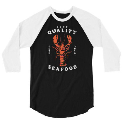 Lobster Seafood 3/4 Sleeve Shirt Designed By Nurart