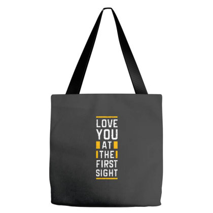 Love You At The First Sight Tote Bags Designed By Nurart