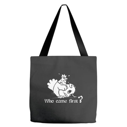 Chicken Or Egg Funny Tote Bags Designed By Blees Store
