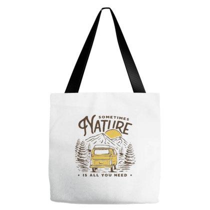 Mountain Camper Van Tote Bags Designed By Nurart