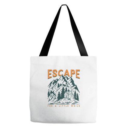 Mountain Cabin Tote Bags Designed By Nurart