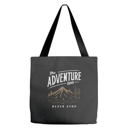 Mountain Adventure Tote Bags Designed By Nurart