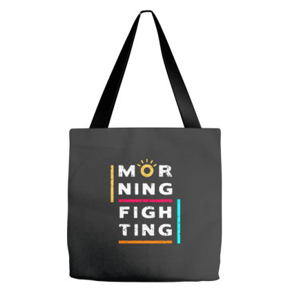 Morning Fighting Tote Bags Designed By Nurart