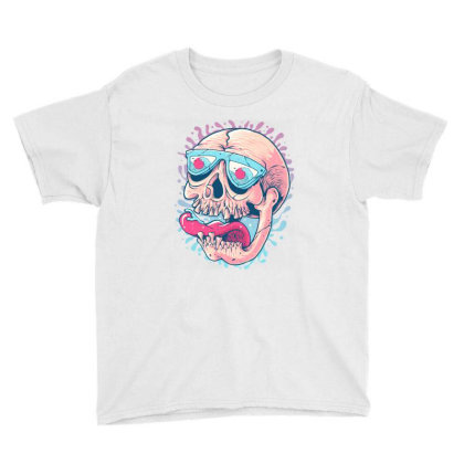 Skull Holiday Youth Tee Designed By Quilimo