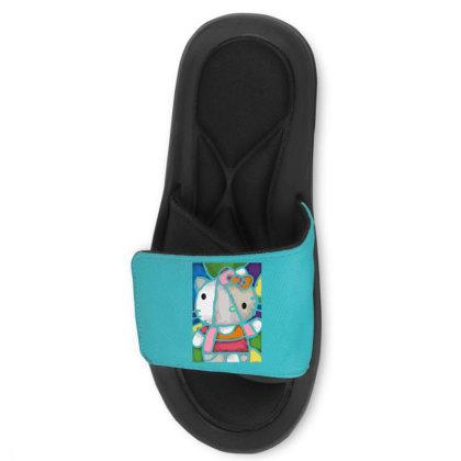 Hello Picasso Kitty Slide Sandal Designed By Mdk Art