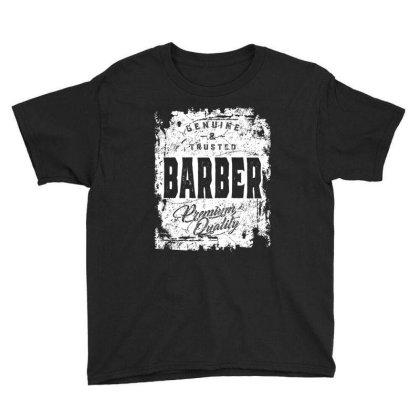 Genuine And Trusted Barber Job Title Gift Youth Tee Designed By Cidolopez