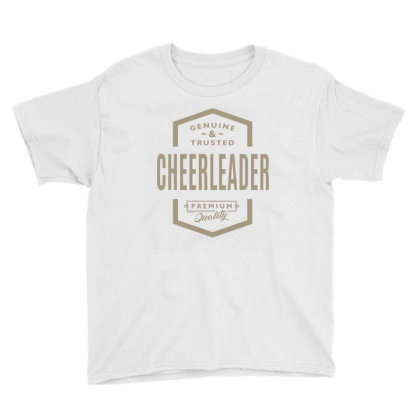 Genuine Cheerleader Youth Tee Designed By Rafaellopez