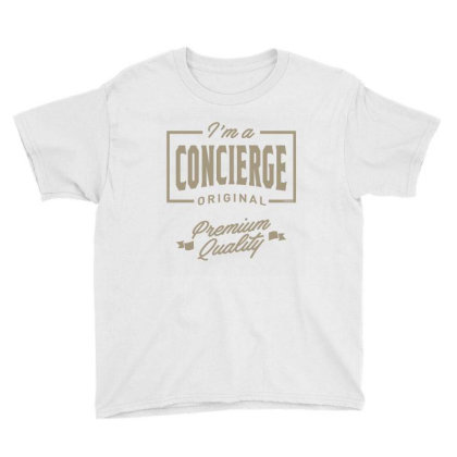 I'm A Concierge Youth Tee Designed By Rafaellopez