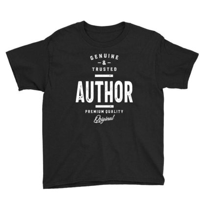 Genuine And Trusted Author Job Title Gift Youth Tee Designed By Cidolopez