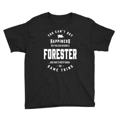 Happiness Forester Job Title Gift Youth Tee Designed By Cidolopez