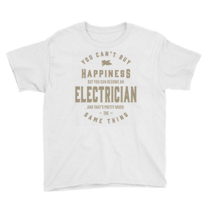 Electrician Youth Tee Designed By Rafaellopez
