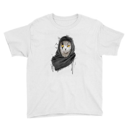 Cat Youth Tee Designed By Disgus_thing