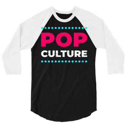 Pop Culture 3/4 Sleeve Shirt Designed By Nurart