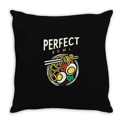 Ramen Throw Pillow Designed By Nurart