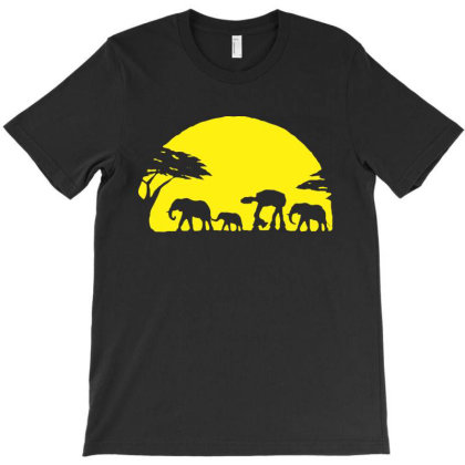 At At Walking Africa Sunset T-shirt Designed By La Bold