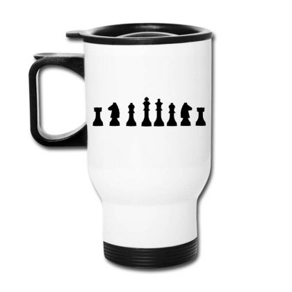 Chess Game Logo Travel Mug Designed By Victor_33