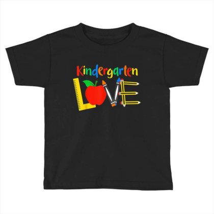 Kindergarten Love, Teacher Student Classroom Gift Toddler T-shirt Designed By Mrt90