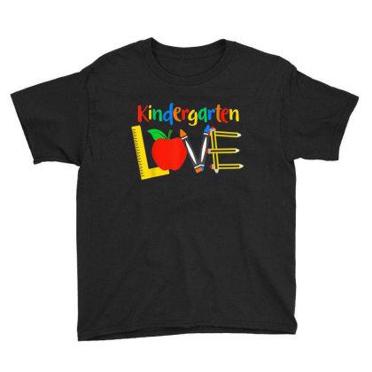 Kindergarten Love, Teacher Student Classroom Gift Youth Tee Designed By Mrt90