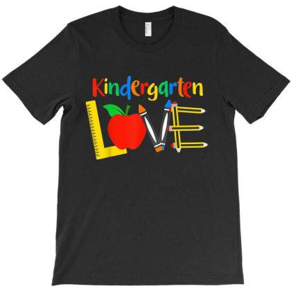 Kindergarten Love, Teacher Student Classroom Gift T-shirt Designed By Mrt90