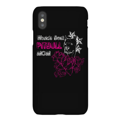 Worlds Best Pitbull Mom T Shirt Iphonex Case Designed By Gnuh79