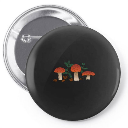 Mushrooms Pin-back Button Designed By Snuggly The Raven